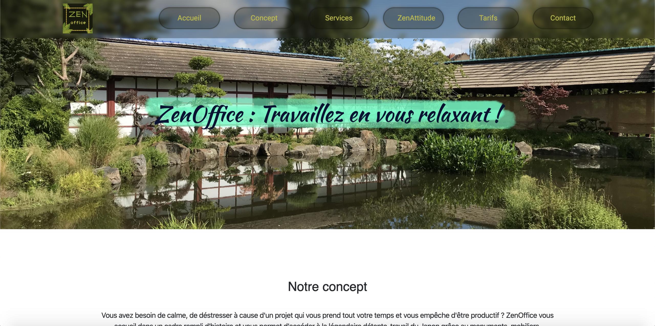 Homepage de ZenOffice