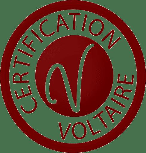 Logo de la certification du projet voltaire